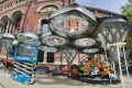 Elytra Filament Pavilion construction photos 09/05/2016
